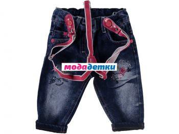 джинсы 6-9-12-18 мес (флис)