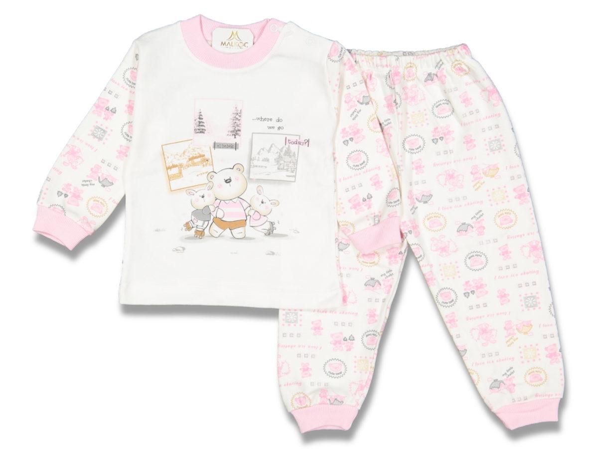 Пижама 3-4 года розовая 75751
