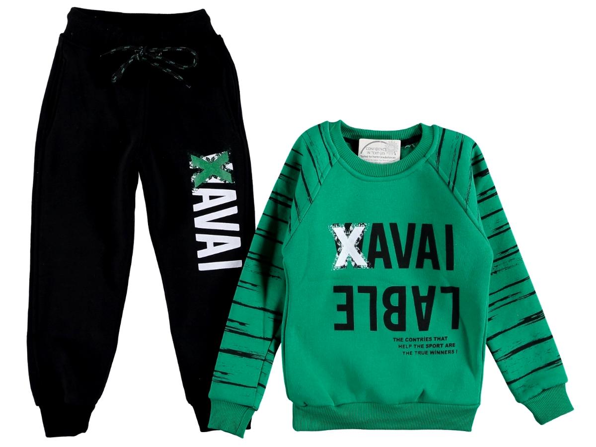 Спортивный костюм 5/8 лет зеленый цвета 309293