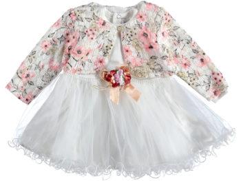 Платье с болеро 9/18 мес коралловое 317158